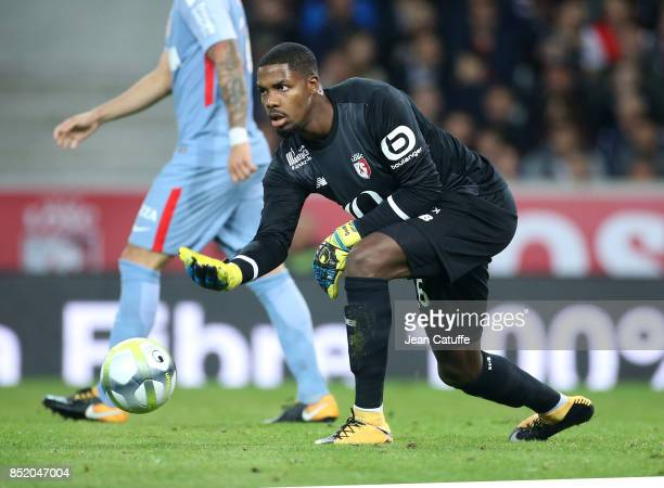 Goalkeeper of Lille Mike Maignan during the French Ligue 1 match between Lille OSC and AS Monaco at Stade Pierre Mauroy on September 22 2017 in Lille...