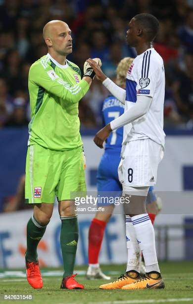 Goalkeeper of Luxembourg Jonathan Joubert Christopher Martins Pereira of Luxembourg during the FIFA 2018 World Cup Qualifier between France and...
