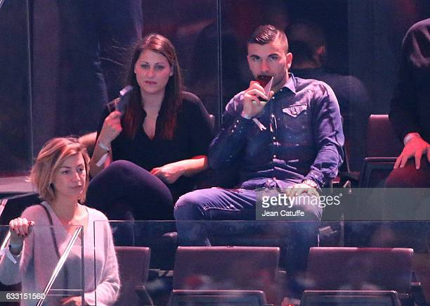 Goalkeeper of Lyon Anthony Lopes and his wife attend the 25th IHF Men's World Championship 2017 Final between France and Norway at Accorhotels Arena...