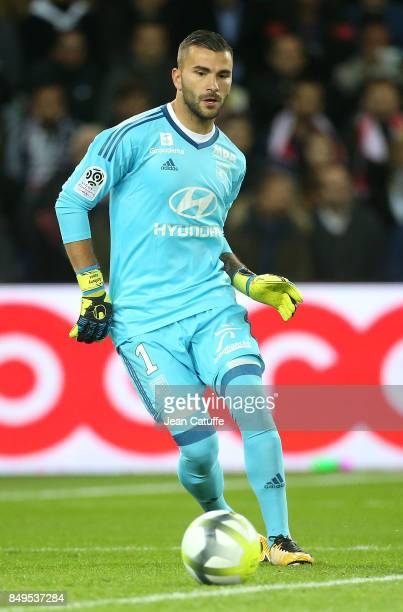 Goalkeeper of Lyon Anthony Lopes during the French Ligue 1 match between Paris Saint Germain and Olympique Lyonnais at Parc des Princes on September...