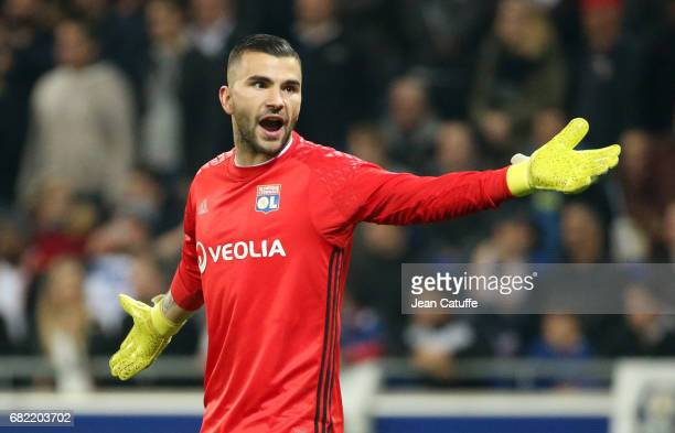 Goalkeeper of Lyon Anthony Lopes during the UEFA Europa League semi final second leg match between Olympique Lyonnais and Ajax Amsterdam at Parc OL...