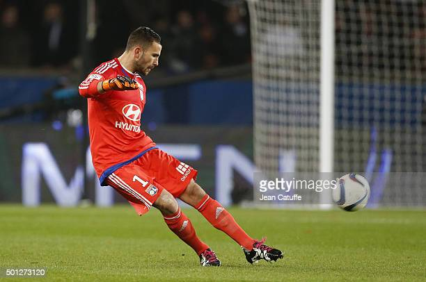 Goalkeeper of Lyon Anthony Lopes in action during the French Ligue 1 match between Paris SaintGermain and Olympique Lyonnais at Parc des Princes...