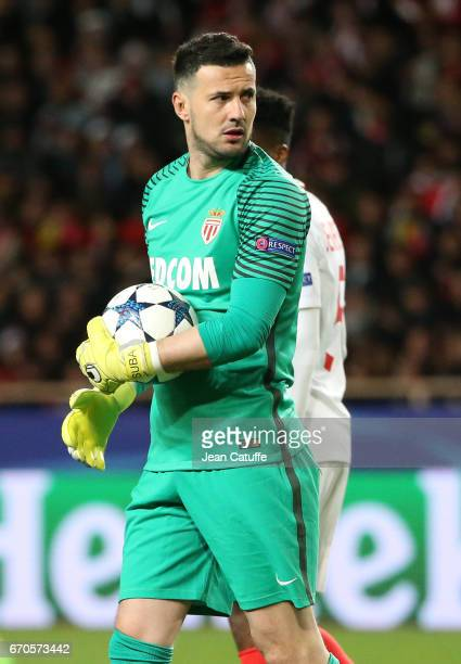 Goalkeeper of Monaco Danijel Subasic during the UEFA Champions League quarter final second leg match between AS Monaco and Borussia Dortmund at Stade...