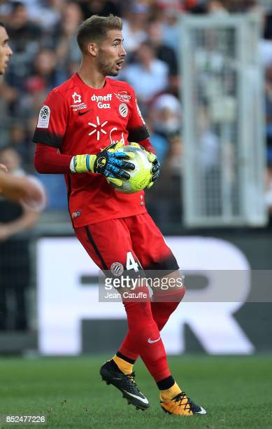 Goalkeeper of Montpellier Benjamin Lecomte during the French Ligue 1 match between Montpellier Herault SC and Paris Saint Germain at Stade de la...
