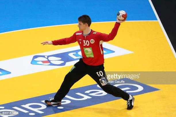 Goalkeeper of Norway Torbjorn Bergerud in action during the 25th IHF Men's World Championship 2017 Final between France and Norway at Accorhotels...