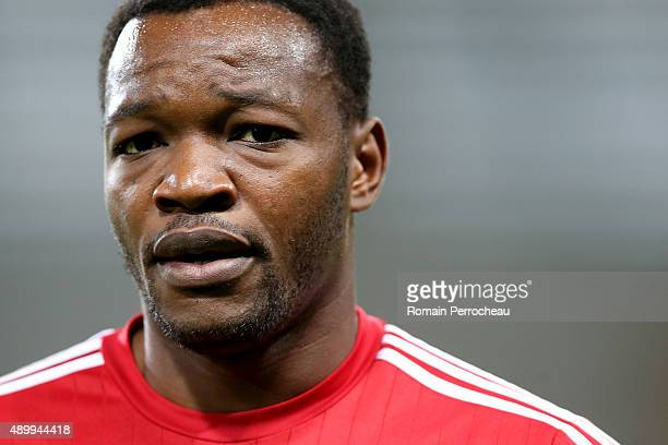 Goalkeeper of Olympique de Marseille Steve Mandanda before the French Ligue 1 game between Toulouse FC and Olympique de Marseille at Stadium...