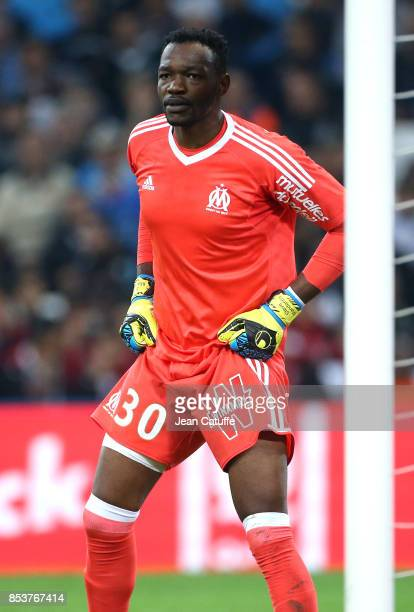 Goalkeeper of OM Steve Mandanda during the French Ligue 1 match between Olympique de Marseille and Toulouse FC at Stade Velodrome on September 24...
