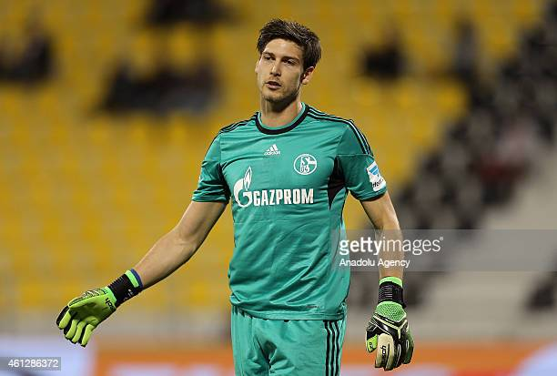 Goalkeeper of Schalke 04 Fabian Giefer is seen during the international friendly soccer match between FC Schalke 04 and Ajax Amsterdam at Qatar Sport...