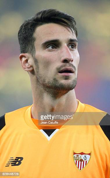 Goalkeeper of Sevilla FC Sergio Rico looks on before the UEFA Champions League match between Olympique Lyonnais and Sevilla FC at Parc OL on December...