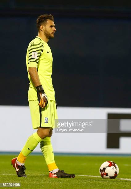 Goalkeeper Orestis Karnezis during the FIFA 2018 World Cup Qualifier PlayOff First Leg between Croatia and Greece at Stadion Maksimir on November 9...