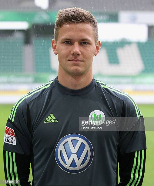 Goalkeeper Patrick Drewes of VfL Wolfsburg poses during the Bundesliga team presentation of VfL Wolfsburg on July 18 2012 in Wolfburg Germany