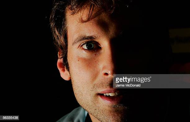 Goalkeeper Petr Cech of Chelsea talks to the media during the Chelsea Football Club Press Conference ahead of the UEFA Champions League group stage...