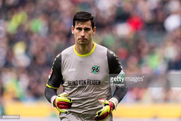 goalkeeper Philipp Tschauner of Hannover 96 during the Bundesliga match between Borussia Monchengladbach and Hannover 96 at BorussiaPark on September...