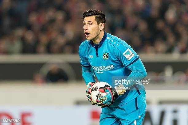 goalkeeper Philipp Tschauner of Hannover looks on during the Second Bundesliga match between VfB Stuttgart and Hannover 96 at MercedesBenz Arena on...