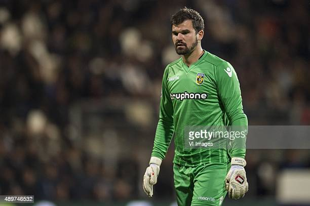 goalkeeper Piet Velthuizen of Vitesse during the Dutch Cup match between Heracles Almelo and Vitesse Arnhem on September 23 2015 in Almelo The...