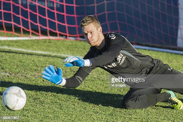 Goalkeeper Robbin Ruiter of FC Utrecht during the training camp of FC Utrecht on January 6 2013 in Benidorm Spain