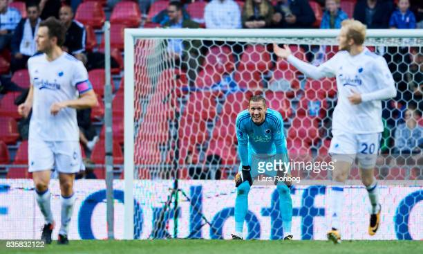 Goalkeeper Robin Olsen of FC Copenhagen looks dejected during the Danish Alka Superliga match between FC Copenhagen and Sonderjyske at Telia Parken...