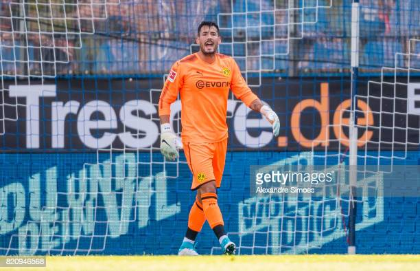 Goalkeeper Roman Buerki of Borussia Dortmund during the preseason friendly match between VfL Bochum and Borussia Dortmund at Rewirpower Stadium on...