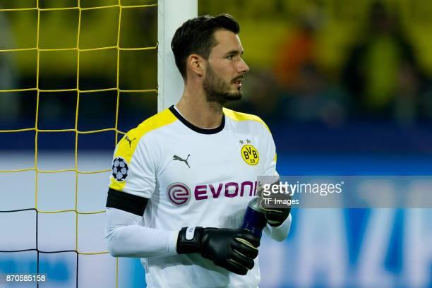 goalkeeper Roman Buerki of Borussia Dortmund looks on during the UEFA Champions League Group H soccer match between Borussia Dortmund and APOEL...