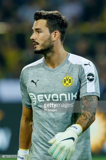 Goalkeeper Roman Buerki of Dortmund looks on during the DFL Supercup 2017 match between Borussia Dortmund and Bayern Muenchen at Signal Iduna Park on...