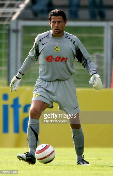 Goalkeeper Roman Weidenfeller of Dortmund during the friendly match between Borussia Dortmund and Galatasaray Istanbul on July 9 2005 in Krefeld...