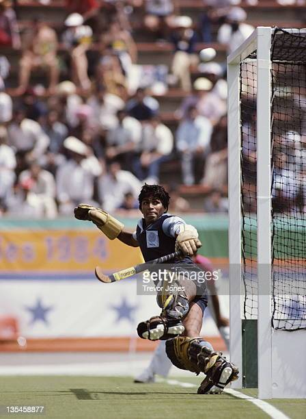 Goalkeeper Romeo James of India during the Men's Field Hockey match against Australia on 4th August 1984 during the XXIII Olympic Summer Games at the...