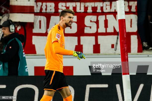 Goalkeeper RonRobert Zieler of Stuttgart looks on during the Bundesliga match between VfB Stuttgart and 1 FC Koeln at MercedesBenz Arena on October...