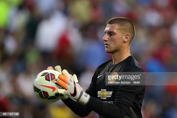 Goalkeeper Sam Johnstone of Manchester United during the International Champions Cup 2015 match between Club America and Manchester United at...