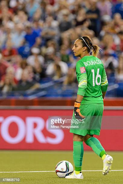 Goalkeeper Sarah Bouhaddi of France looks to play the ball during the 2015 FIFA Women's World Cup quarter final match against Germany at Olympic...