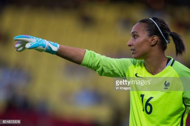 goalkeeper Sarah Bouhaddi of France women during the UEFA WEURO 2017 quarter finale match between England and France at The Adelaarshorst on July 30...