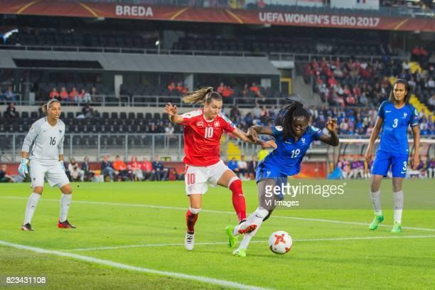 goalkeeper Sarah Bouhaddi of France women Ramona Bachmann of Switzerland women Griedge Mbock Bathy Nka of France women Wendie Renard of France women...