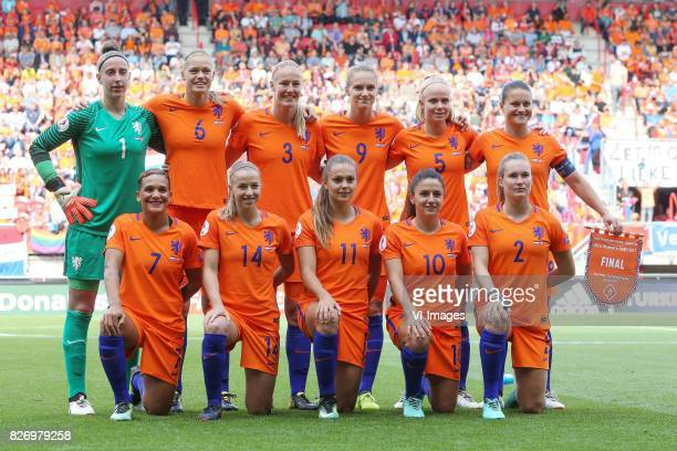goalkeeper Sari van Veenendaal of Holland Women Anouk Dekker of Holland Women Stefanie van der Gragt of Holland Women Vivianne Miedema of Holland...