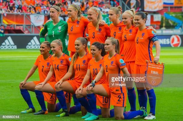goalkeeper Sari van Veenendaal of Holland Women Anouk Dekker of Holland Women Stefanie van der Gragt of Holland Women Vivianne Miedema of Holland...