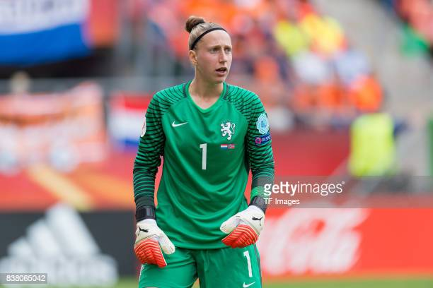 Goalkeeper Sari van Veenendaal of the Netherlands looks on during their Group A match between Netherlands and Norway during the UEFA Women's Euro...