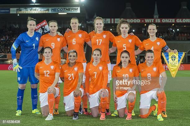 Goalkeeper Sari van Veenendaal of the Netherlands Vivianne Miedema of the Netherlands Anouk Dekker of the Netherlands Kelly Zeeman of the Netherlands...