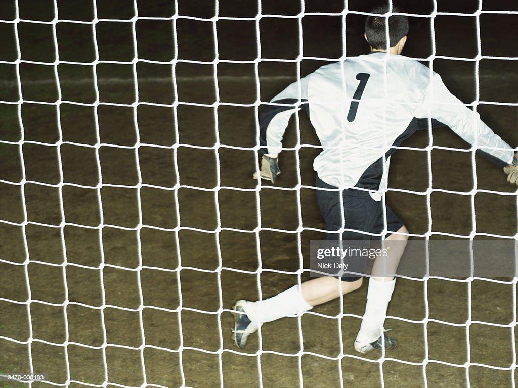 Goalkeeper Saving Shot : Stock Photo