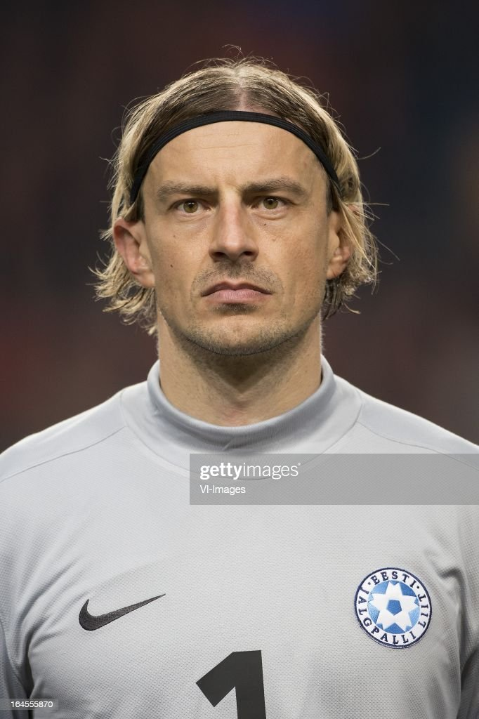 goalkeeper Sergei Pareiko of Estonia during the FIFA 2014 World Cup qualifier match between the Netherlands and Estonia at the Amsterdam Arena on march 22, 2013 in Amsterdam, The Netherlands