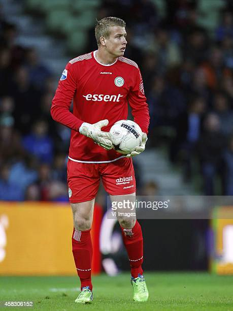 goalkeeper Sergio Padt of FC Groningen during the Dutch Eredivisie match between FC Groningen and NAC Breda at Euroborg on November 02 2014 in...