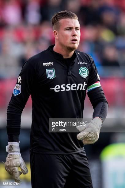 goalkeeper Sergio Padt of FC Groningenduring the Dutch Eredivisie playoffs match AZ Alkmaar and FC Groningen at AFAS stadium on May 20 2017 in...