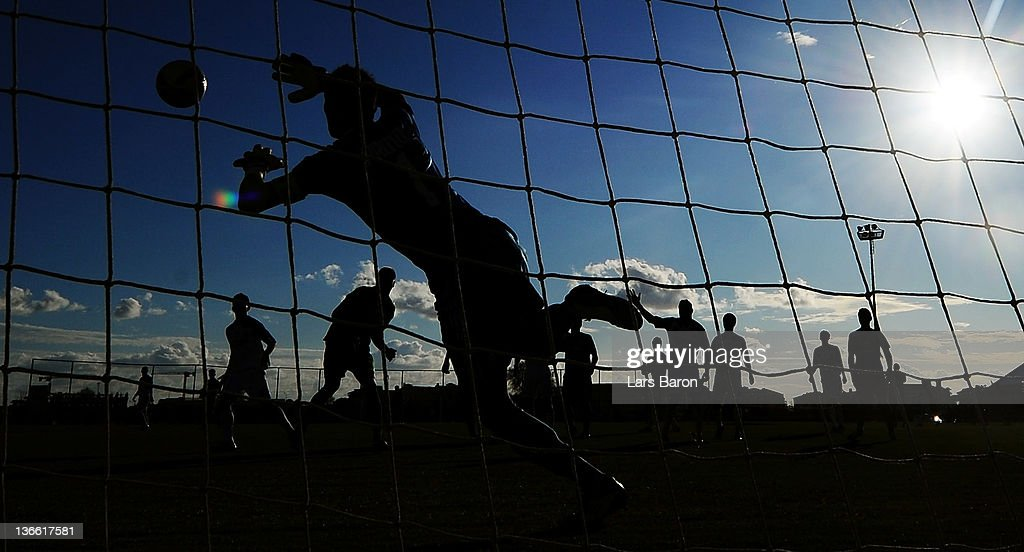 Goalkeeper Silvio Proto of Anderlecht jumps for the ball during the friendly match between RSC Anderlecht and Werder Bremen at Emirhan Sportscenter on January 9, 2012 in Belek, Turkey.