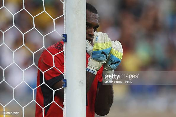 Goalkeeper Simione Tamanisau of Fiji in action during the Men's Group C match between Germany and Fiji on Day 5 of the Rio2016 Olympic Games at...