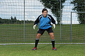 Goalkeeper standing in goal