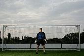 Goalkeeper standing in the goal