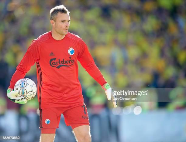 Goalkeeper Stephan Andersen of FC Copenhagen in action during the Danish Cup Final DBU Pokalen match between FC Copenhagen and Brondby IF at Telia...