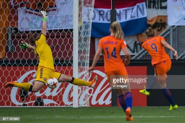 goalkeeper Stina Lykke Petersen of Denmark women Jackie Groenen of Holland Women Vivianne Miedema of Holland Women during the UEFA WEURO 2017 final...