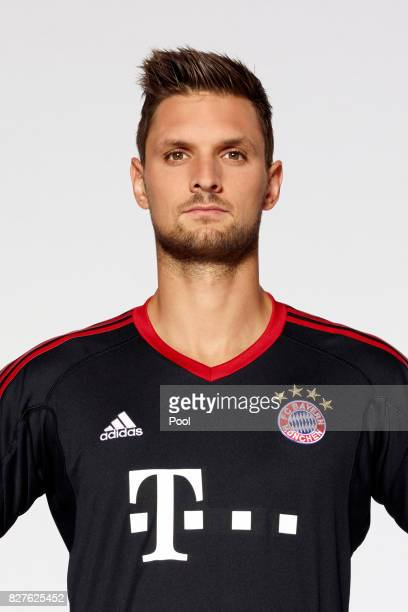Goalkeeper Sven Ulreich of FC Bayern Muenchen poses during the team presentation at Allianz Arena on August 8 2017 in Munich Germany