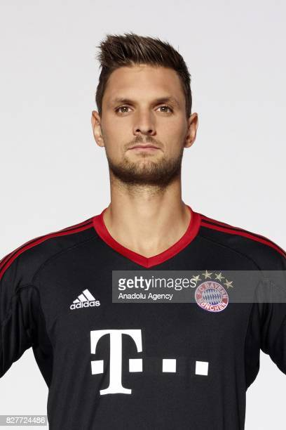 Goalkeeper Sven Ulreich of FC Bayern Munich poses during the team presentation at Allianz Arena on August 8 2017 in Munich Germany