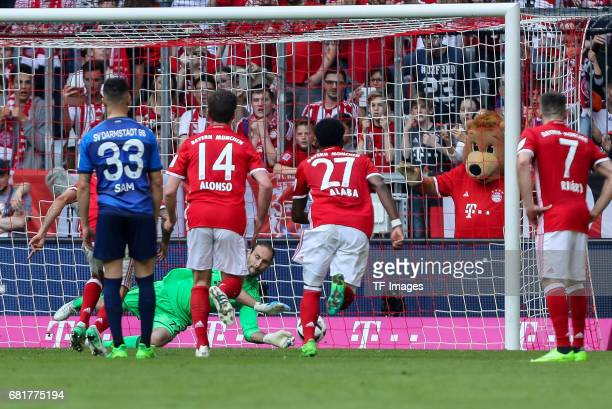 Goalkeeper Sven Ulreich of Munich in action during the Bundesliga match between Bayern Muenchen and SV Darmstadt 98 at Allianz Arena on May 6 2017 in...