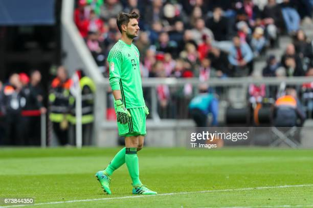 Goalkeeper Sven Ulreich of Munich looks on during the Bundesliga match between Bayern Muenchen and 1 FSV Mainz 05 at Allianz Arena on April 22 2017...