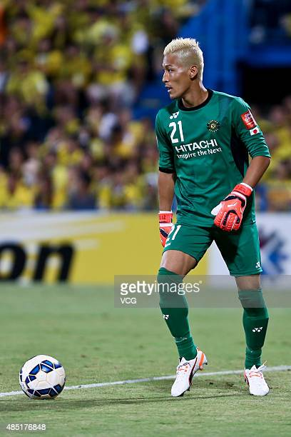 Goalkeeper Takanori Sugeno of Kashiwa Reysol in action during the AFC Champions League quarterfinal football match between Kashiwa Reysol and...
